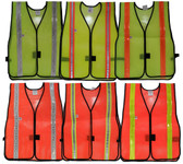 Economy PVC Coated Safety Vests with Stripes