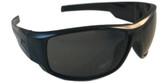 Edge Caraz Patriot Safety Glasses, Black Frame Smoke Lens (HZ116-P1) Oblique