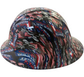 American Biker Hydro Dipped Hard Hats Full Brim Style