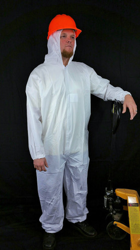 Suntech Microporous Coveralls w/ Hood, Elastic Ankles   pic 1