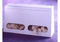 2-Compartment Bulk Glove Dispenser w/ Lid  Pic 1