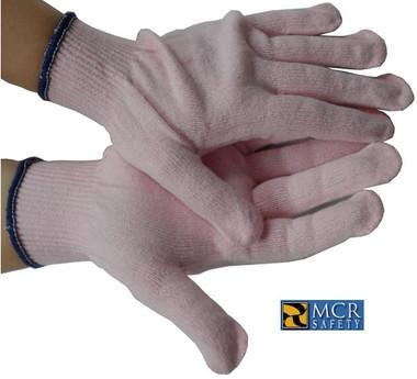 MCR Pink String Knit Work Gloves Pic 1