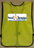 Imprinted Lime Safety Vests Multi Color Back