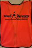 Imprinted Orange safety vests back