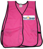 Pink Multi Color Safety Vests Imprinting Front