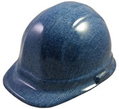 Blue Denim Hydro Dipped Hard Hats Cap Style