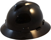 MSA V-Gard Full Brim Hard Hats with One-Touch Suspensions Black