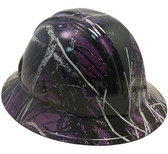 Muddy Girl Purple Hydro Dipped Hard Hats Full Brim Style