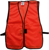 Orange Soft Mesh Plain Safety Vest ~Tear Away Front