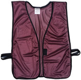 Maroon Soft Mesh Plain Safety Vest  Pic 1