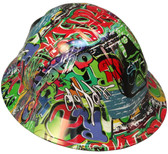 Graffiti Hydro Dipped Hard Hats Full Brim Style