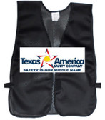 Add A Text Imprint to Your Black Safety Vests (MULTI COLOR
