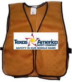 Add A Graphics Logo to Your Ceremonial Gold Safety Vests (MULTI COLOR
