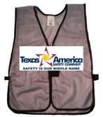 Add A Graphics Logo to Your Ceremonial Silver Safety Vests (MULTI COLOR)