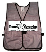 Add A Text Imprint to Your Ceremonial Green Safety Vests (ONE COLOR)