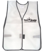 Add A Text Imprint to Your White Safety Vests (ONE COLOR)