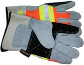 Luminator Hi-Vis Leather DOUBLE Palm w/ Reflective Stripes pic 3