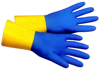 Flock Lined Neoprene Over Latex 13 inch Gloves Pic 1