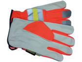 Cowhide Driver Glove with Reflective Stripes pic 3