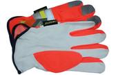 Premium Grain Goatskin Driver Glove w/ Reflective Stripes pic 3
