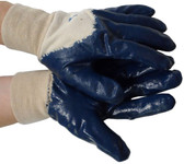 Nitrile Palm Coated w/ Knit Wrist Gloves (Sold by Dozen) Size Small
