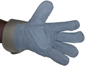 Heavy Duty Double Palm Leather Glove w/ Kevlar Stitching pic 2