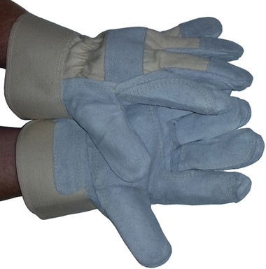 Heavy Duty Double Palm Leather Glove w/ Kevlar Stitching Pic 1