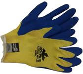 Kevlar stiched glove, Bear Kat w/ Blue latex palm (1 dozen pair) Medium Size