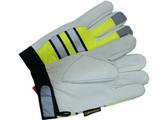 Hi-Vis Lime Grain Goatskin Multi-Task Glove w/ Velcro pic 3