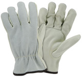 Top Grain Cowhide Leather Gloves w/ Split Leather Back Pic 1