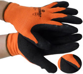 ORANGE Seemless Conforming Glove Black Palm Pic 1