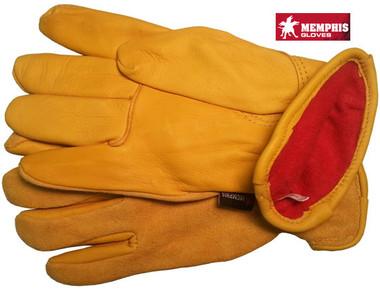 Deerskin Leather Palm Gloves Split Leather Back Pic 1