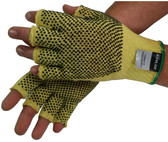 Kevlar String Knit Gloves Fingerless with Dots Pic 1
