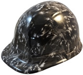 Guns and Skulls Hydro Dipped Hard Hats Cap Style Design ~ Oblique View