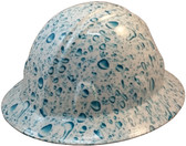 Raindrop Hydro Dipped Hard Hats Full Brim Design ~ Oblique View