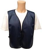 Navy Blue Soft Mesh Plain Safety Vest Main