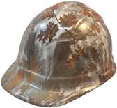 Winter Camo Hydro Dipped Hard Hats Cap Style Design ~ Oblique View