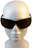 ERB Rose Safety Glasses Black Frame with Brown Lens ~ Front View
