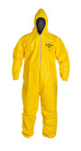 Tyvek QC Coveralls, Serged Seams, with Hood, Elastic Wrists and Ankles (12 per case) ~ Size Medium