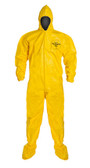 Tyvek QC Coveralls, Sewn and Bound Seams with Hood, Boots and Elastic Wrists (12 per case) ~ Size XL