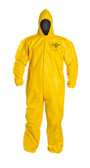 Tyvek QC Coveralls, Sewn and Bound Seams with Hood, Elastic Wrists and Ankles (12 per case) ~ Size Large