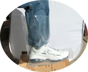Plastic Disposable 4 mil Boot Covers   pic 1