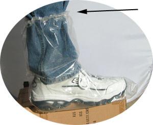 Plastic Boot Covers 3 Mil Plastic w/ Elastic Top   pic 1
