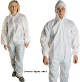 PE Coated Polypropylene Coverall w/ Hood, Wrists, Ankles   pic 4