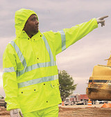 MCR Luminator 40 mil Class III Rain Coat w/ Silver Stripes   pic 2