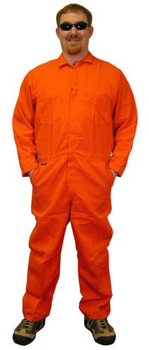 Indura Cotton Orange Flame Resistant Coveralls  pic 1