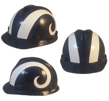 Los Angeles Rams hard hat