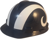 Los Angeles Rams hard hat - Oblique View
