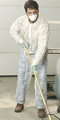 Standard Polypropylene Coveralls ~ With Elastic Wrists and Ankles ~ (5 SAMPLE PACK)