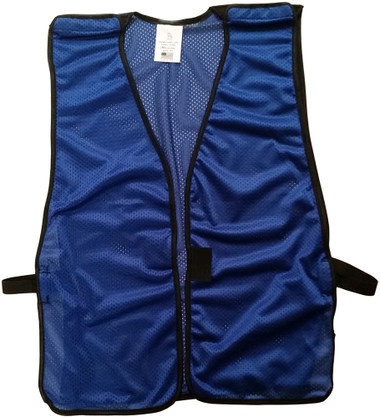 Royal Blue Soft Mesh Plain Safety Vest ~ Front
